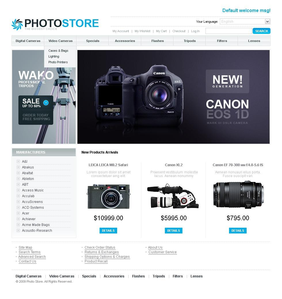 шаблоны интернет магазинов фототехники ниже увидите