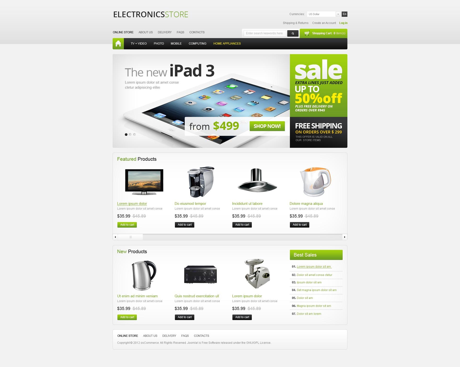 Шаблоны интернет магазинов фототехники