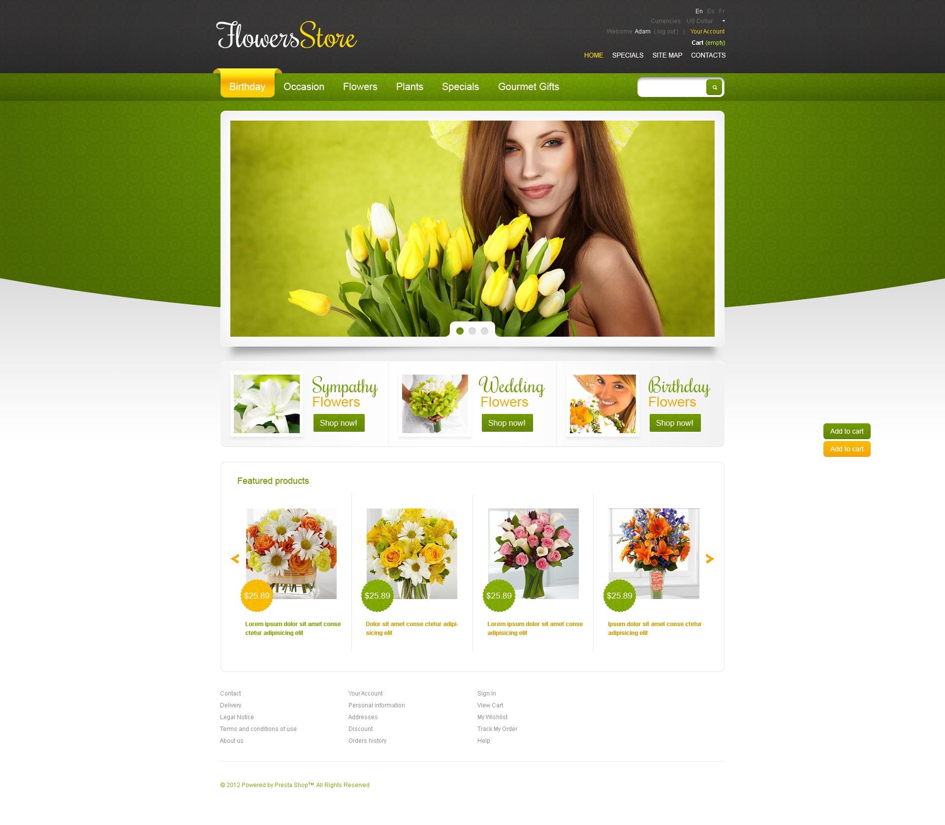 Дизайн Интернет Магазина Цветов